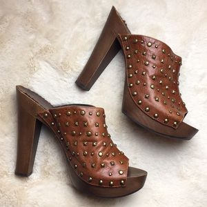 Shoes - Studded Leather Mules
